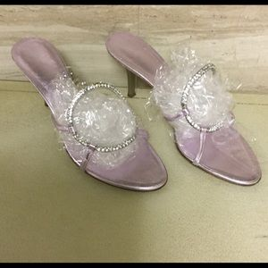 Giuseppe Sanotti Crystal Slip On Heel 9.5